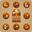 Bar menu icon — Stock Vector