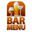 Stock Vector: Bar menu sign