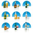 Alcohol drinks icon set — Stock Vector #24788853