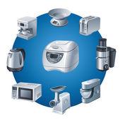 Kitchen appliances icon set — Stock Vector