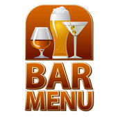 Bar menu sign — Stock Vector