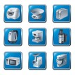 Kitchen appliances icon set — Stock Vector