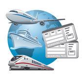 Travel tickets icon — Stock Vector