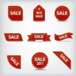 Stock Vector: Sale labels and tags