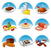Food and meal icon set — Stock Vector