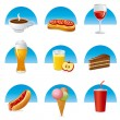 Food and drink icon set — Stock Vector #27095009
