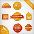 Best choice labels — Stock Vector