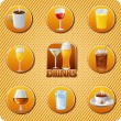 Stock Vector: Drinks menu icon set