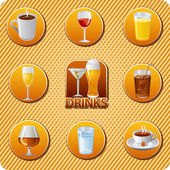 Drinks menu icon set — Stock Vector