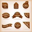 Stock Vector: Coffee labels