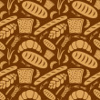 Stock Vector: Bread pattern