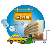 Hotel service — Stock Vector