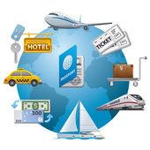 Travel icon concept — Stock Vector