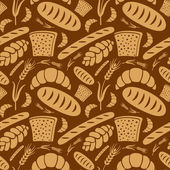 Bread pattern — Stock Vector