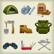 Hike equipment icon set — Image vectorielle
