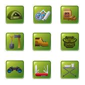 Tourism equipment icon — Stock Vector