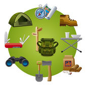 Hike equipment icon — Stock Vector