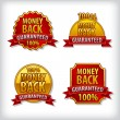 Money back guaranteed label — Stock Vector #33360937