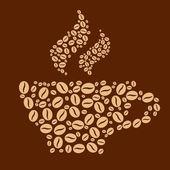 Kahve arka plan — Stok Vektör