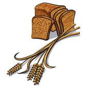 Rye bread — Stock Vector