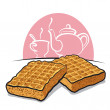 Stock Vector: Waffles