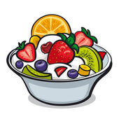 Fresh fruit salad — Stock Vector