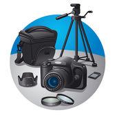 Photography equipment — Stock Vector
