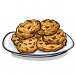 Oatmeal cookies — Stock Vector