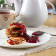 Stock Photo: Fritters with jam