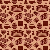 Confectionery seamless pattern  — Stock Vector