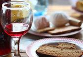 Jantar com vinho — Fotografia Stock