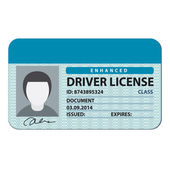Driver license — Stock Vector