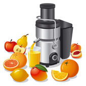 Electric juicer — Stock Vector