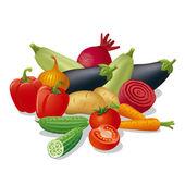 Zbioru warzyw — Wektor stockowy
