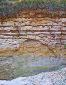 Wall clay pit — Stock Photo