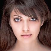 Portrait of beautiful dark-haired girl — Stock Photo