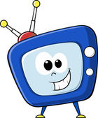 Tv cartoon face — Stock Vector