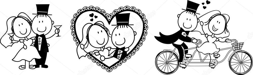 divertida invitación de boda — Vector stock © hayaship #