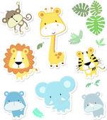 Animales bebé mono vector — Vector de stock