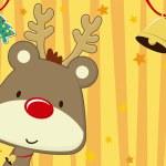 Christmas Card baby rudolph — Stock Vector