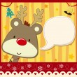 Childish christmas card background — Stock Vector