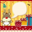 Christmas Card baby rudolph — Stock Vector #13918930