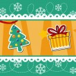 Christmas banner decoration — Imagen vectorial