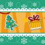 Christmas banner decoration — Stock Vector