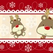 Cute christmas banner decoration — Stock Vector