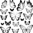 Butterfly Vector Silhouettes — Stock Vector #24921385