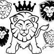 Lion heraldic vector collection — Stock Vector