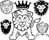 Lion heraldic vector collection — Stock Vector