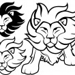 Lion tattoo vector — Stock Vector