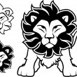 Lion logo vector - Stock Vector
